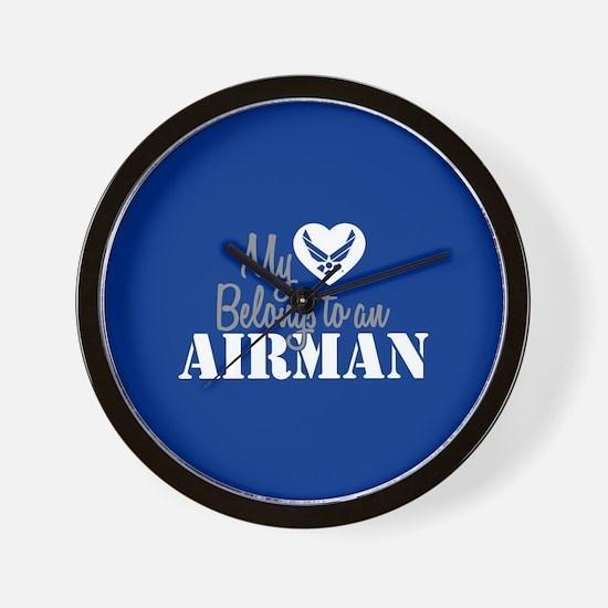 My Heart Belongs to an Airman Wall Clock