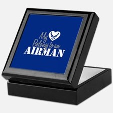 My Heart Belongs to an Airman Keepsake Box