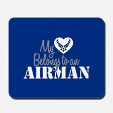 My Heart Belongs to an Airman Mousepad