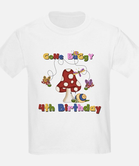 Gone Buggy 4th Birthday T-Shirt