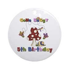 Gone Buggy 5th Birthday Ornament (Round)