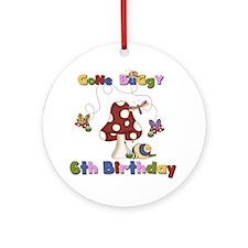 Gone Buggy 6th Birthday Ornament (Round)