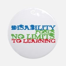 Disability No Limits Ornament (Round)