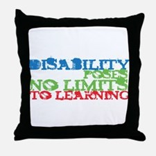 Disability No Limits Throw Pillow