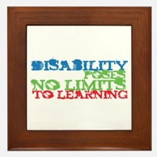 Disability No Limits Framed Tile
