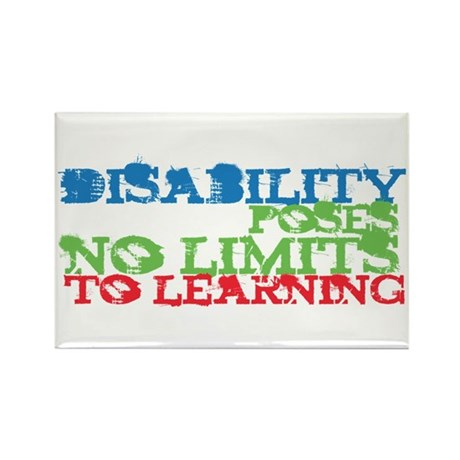 Disability No Limits Rectangle Magnet