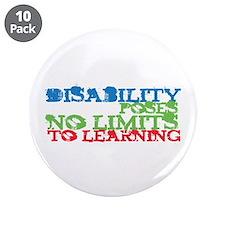 "Disability No Limits 3.5"" Button (10 pack)"