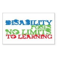 Disability No Limits Rectangle Decal