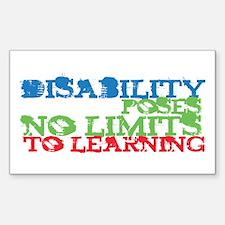 Disability No Limits Rectangle Sticker 10 pk)