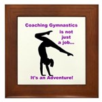 Gymnastics Coach Framed Tile