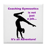 Gymnastics Coach Tile Coaster
