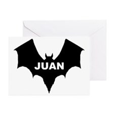 BLACK BAT JUAN Greeting Cards (Pk of 10)