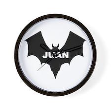 BLACK BAT JUAN Wall Clock