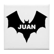 BLACK BAT JUAN Tile Coaster