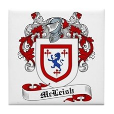 McLeish Family Crest Tile Coaster