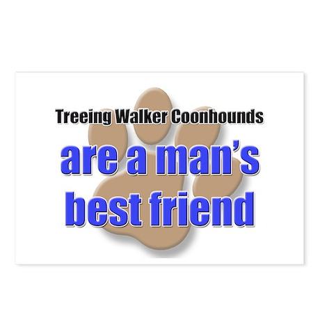 Treeing Walker Coonhounds man's best friend Postca