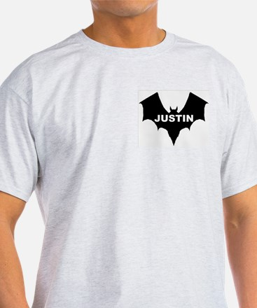 BLACK BAT JUSTIN Ash Grey T-Shirt