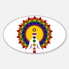 Spiritually Enlightened Oval Decal