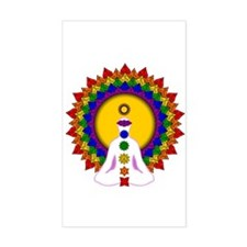 Spiritually Enlightened Rectangle Decal