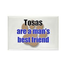 Tosas man's best friend Rectangle Magnet