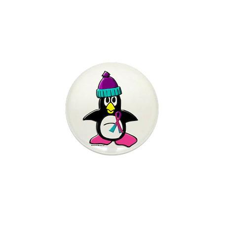 Winter Penguin 1 (Thyroid) Mini Button