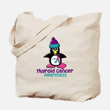 Winter Penguin 2 (Thyroid Cancer) Tote Bag