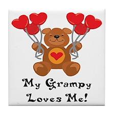 My Grampy Loves Me! Tile Coaster