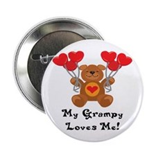 """My Grampy Loves Me! 2.25"""" Button"""