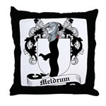 Meldrum Family Crest Throw Pillow