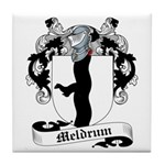 Meldrum Family Crest Tile Coaster