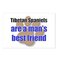 Tibetan Spaniels man's best friend Postcards (Pack