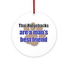 Thai Ridgebacks man's best friend Ornament (Round)