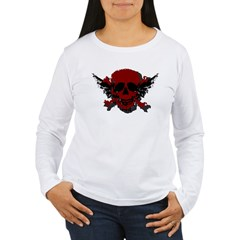 Red and Black Graphic Skull T-Shirt