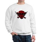 Red and Black Graphic Skull Sweatshirt