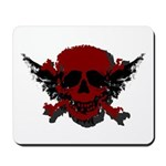 Red and Black Graphic Skull Mousepad