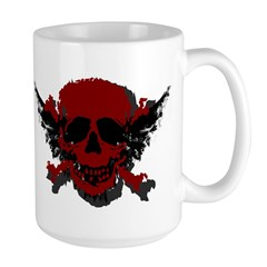 Red and Black Graphic Skull Large Mug