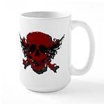 Red and Black Graphic Skull Large Mug