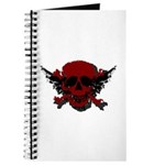 Red and Black Graphic Skull Journal