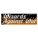 Wizards against war bumper sticker