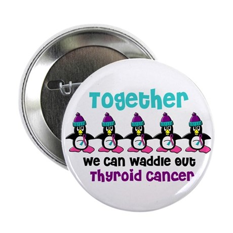 "Winter Penguin 4 (Thyroid Cancer) 2.25"" Button"