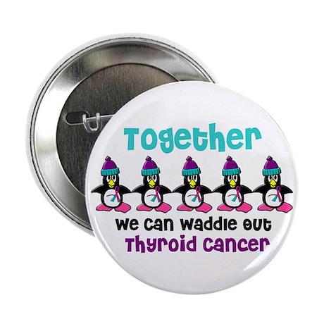 "Winter Penguin 4 (Thyroid Cancer) 2.25"" Button"
