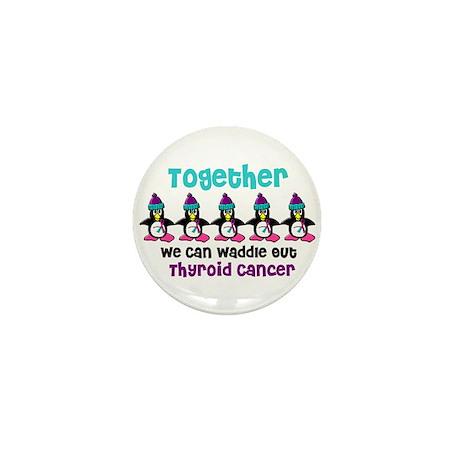 Winter Penguin 4 (Thyroid Cancer) Mini Button (10