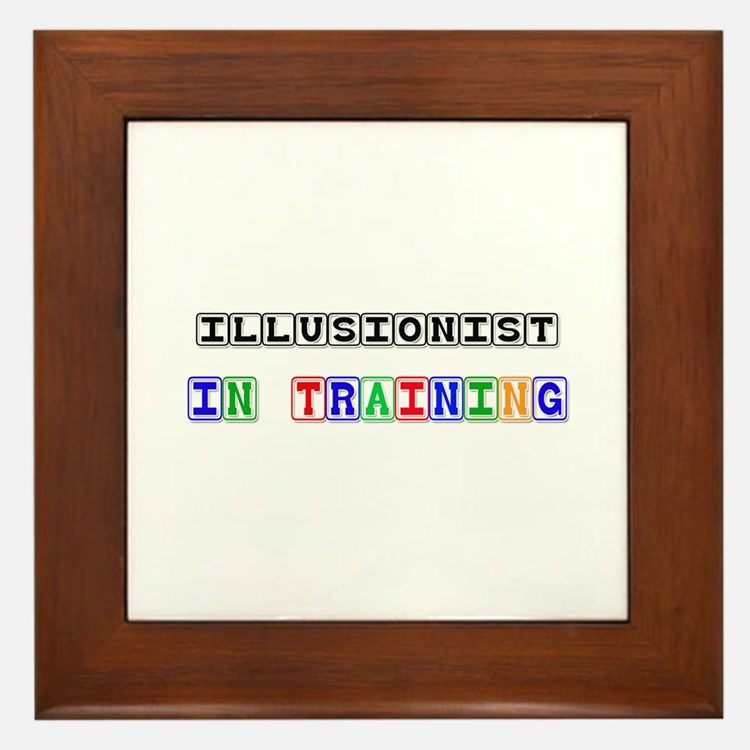 Illusionist In Training Framed Tile