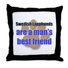 Swedish Lapphunds man's best friend Throw Pillow