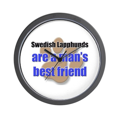Swedish Lapphunds man's best friend Wall Clock