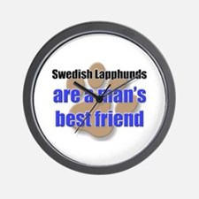 Swedish Lapphunds man's best friend Wall Clock