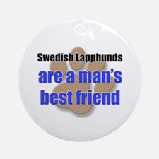 Swedish Lapphunds man's best friend Ornament (Roun