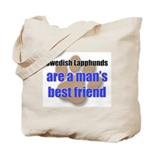 Swedish Lapphunds man's best friend Tote Bag