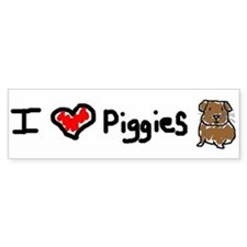 I Love Piggies Bumper Bumper Sticker