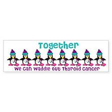 Winter Penguin 4 (Thyroid Cancer) Bumper Bumper Sticker